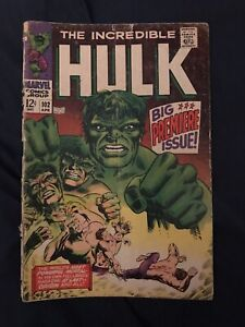 INCREDIBLE HULK #102 (196) KEY- 1st issue of own title - Low Grade but complete