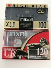 2 AUDIO CASSETTE TAPE Maxell 120  & XL II High Bias Sealed