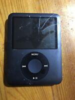 Genuine Original Apple iPod Nano 3rd Generation A1236 8Gb Black Screen Broken