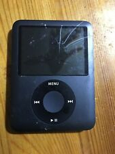 Genuine Original Apple iPod Nano 3rd Generation A1236 8Gb Black Screen Broken