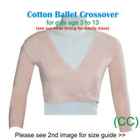 PINK Girls Ballet Crossover Cardigan Wrap 100% Cotton Dance RAD ISTD (CC)
