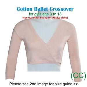 PINK Girls Ballet Crossover Cardigan Wrap 100% Cotton Dance RAD ISTD (CC)