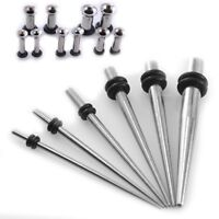 Stainless STEEL Micro Ear Taper Kit +Tunnel Set 16G-6G Gauges Expanders