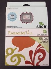Making Memories SLICE Design Card REMEMBER THIS~Tags Frames Vintage Word Bubbles