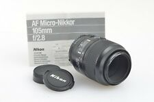 NIKON AF MICRO NIKKOR 105mm f2.8 LENS, VERY SHARP!, CAPS, INSTRUCTIONS, *READ*