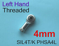 Freeship 4pcs Left Hand Threaded 4mm SIL4T/K PHSA4L Female Rod End Joint Bearing