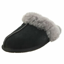 UGG Scuffette 2 Womens Black Grey Suede Slippers Shoes