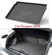 Rubber Mat Pad Liner Cargo Mat Tray Trunk Floor Mat For Peugeot 2008 2020-2021