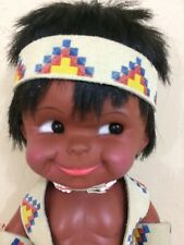 Vintage Lil Cubby Doll Native American Indian Boy Sioux Reservation Doll Leather