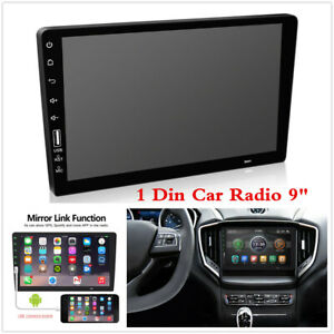 """Single Din 9""""inch Car Stereo Radio MP5 FM BT Player AUX Mirror Link Touch Screen"""