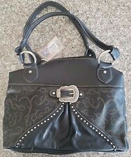 Designer Black Buckle  Montana West Purse New W/Tags  YK-8262 BK