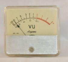 Vintage Arogonne VU Volume Panel Meter -20 to 3+ For Tube Audio Amplifier