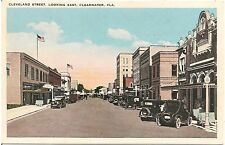 Cleveland Street Looking East in Clearwater FL Postcard