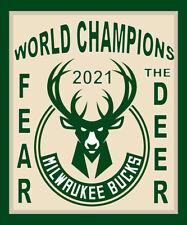 2021 Milwaukee Bucks World Nba Champions Nba Finals Souvenir Fridge Magnet