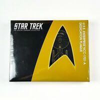 Star Trek USS ENTERPRISE NCC 1701 A Dedication Plaque Replica Eaglemoss