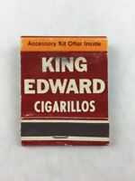 Vintage King Edward Cigarillos Collectible Matchbook