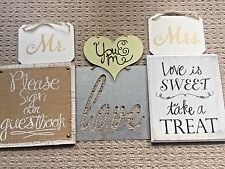 HOBBY LOBBY WEDDING SIGN GUEST BOOK TREAT TABLE MR. & MRS. LOVE BURLAP RUSTIC