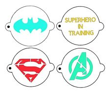 Superhero small set, batman, superman, avengers, face paint, 190 mylar stencils