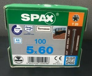 SPAX Stainless Steel Decking Screws 5x60