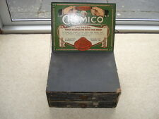 C1919 VINTAGE CHEMICO THE PATCH THAT HELPED TO WIN THE WAR SHOP 2 DRAW CABINET