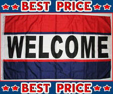 """10 WELCOME FLAGS 3' X 5' 36"""" X 60""""  LOT WHOLESALE BEST PRICE FREE SHIPPING"""