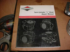 BRIGGS & STRATTON SMALL ENGINE TWIN CYL. LAWN & GARDEN MOWER TRACTOR REPAIR BOOK