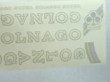 Colnago Decal Set Super Original From The 1980'S White NOS Vintage Racing Bike
