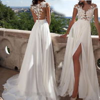 White Wedding Dresses Bridal Ball Gowns Long Sleeves Appliques Lace Bride