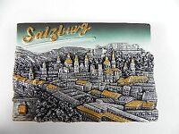 Salzburg Österreich,Austria,Souvenir Magnet Poly 3 D Optik,neu,8 cm,gold silber