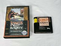King's Bounty: The Conqueror's Quest Sega Genesis Game and Case Good Condition