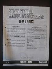 SUZUKI RM250K1 Set Up Manual Set-Up RM 250 K1 99505-01051-01T Motorcycle