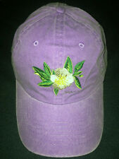 Ball Cap with Embroidered Magnolia and State of Alabama Bimini Bob's purple NEW