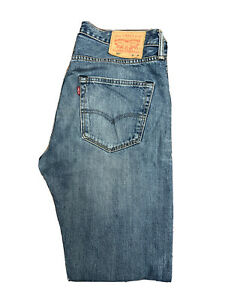 Original Levi's 501® Classic Straight Leg Blue Denim Jeans W32 L34 ES 8275