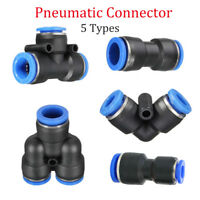 Pneumatic Push In Fittings Air Water Hose Tube Stem NYLON SPEED JOIN ADAPTER TEE