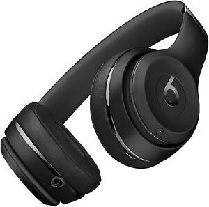Beats By Dr. Dre Solo3 Wireless On-Ear Headphones - Matte Black -Brand New