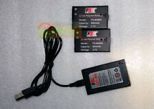 2 FLYSKY FS-B800 BA800 3.7V 800mAh Lipo Battery With 1 USB Charger For GT3C GT2B