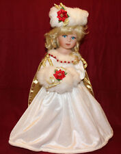 "17"" Ashton Drake's Winter Ball Porcelain Doll Cinderella by Brigitte Deval,FA 89"