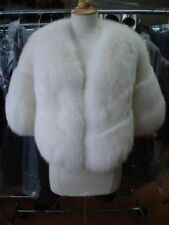 $NEW WHITE FOX FUR STOLE CAPE WRAP FOR WEDDING WOMEN