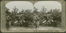 8th Battery, Royal Field Artillery - Doadpore Troop, Gas Masks !!  - Stereoview