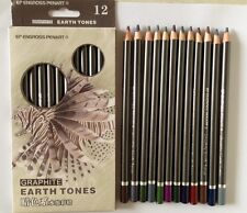 Peroci Graphite Earth Tones 12 colour water soluble Drawing Pencils Sketch set