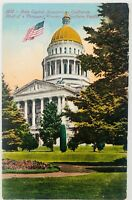 Vintage Sacramento California CA State Capital Southern Pacific Postcard 1911