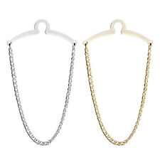 Mens Necktie Link Tie Chain Silver Gold Metal Tack Clip Clasp Set Shirt Jewelry