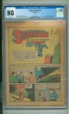 Action Comics #18 CGC NG Coverless Origin & 1st App Of Three Aces 1939