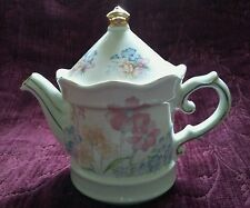 Sadler England Pastel Floral Tea Pot Gold Trim - Small - FREE U.S. SHIPPING