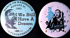 Martin Luther King March On Washington Buttons 1983 - Original Pinbacks Rare