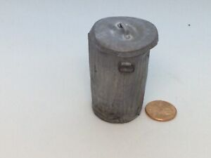 "1:12 Scale Rusty Grungy Metal Garbage Can signed ""Noel Thomas No. 14 /1998"""