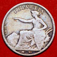 1851A  Switzerland 1/2 Franc KM# 8