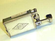 VINTAGE SILVER PLATED LIFTARM WICK POCKET LIGHTER W. ENGRAVING - FEUERZEUG -NICE