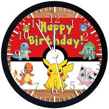 Pokemon Pikachu Kid Birthday Black Frame Wall Clock Nice For Decor or Gifts E257