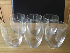 Royal Doulton GLASS Whiskey Tumblers x 6  - whisky water juice